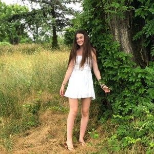 Abercrombie and Fitch White strapless dress